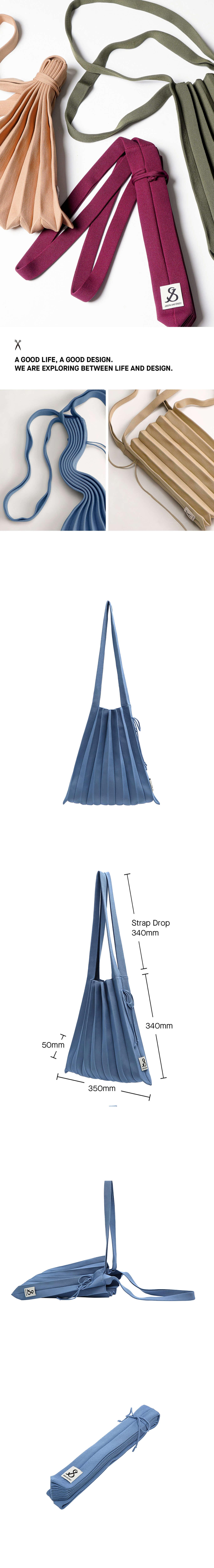 조셉앤스테이시(JOSEPH&STACEY) Lucky Pleats Knit M Ceramic Blue