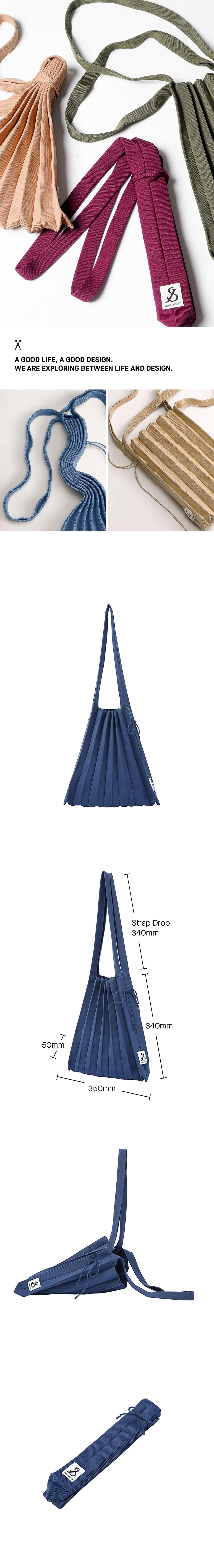 조셉앤스테이시(JOSEPH&STACEY) Lucky Pleats Knit M Mid Blue