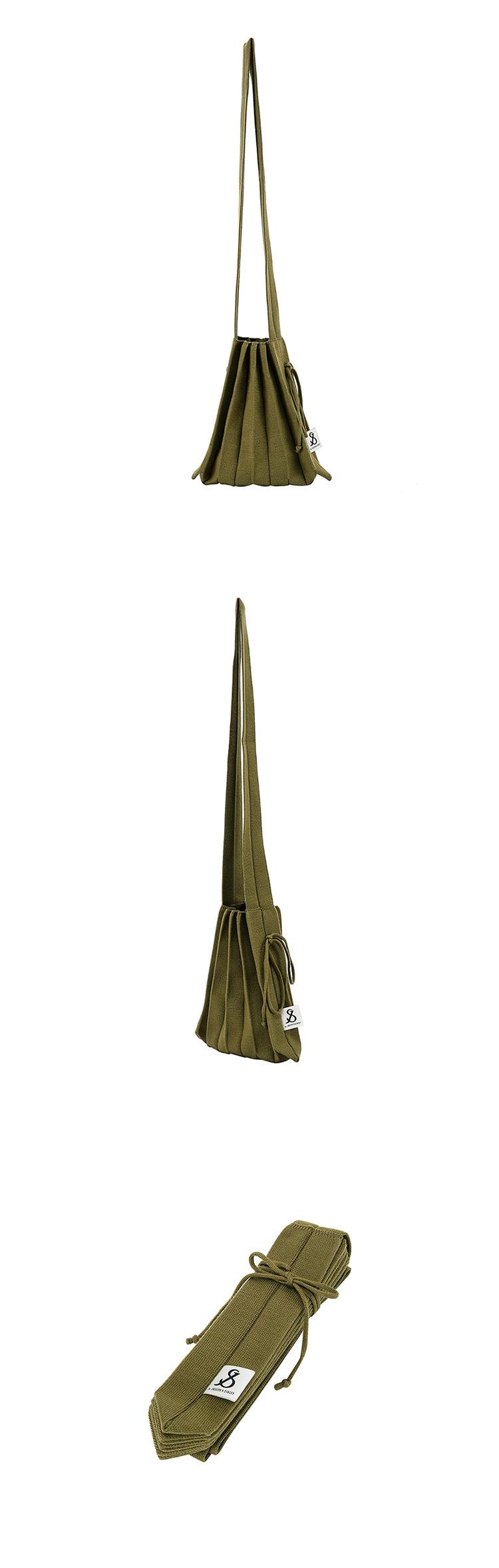 조셉앤스테이시(JOSEPH&STACEY) Lucky Pleats Knit Crossbag S Olive