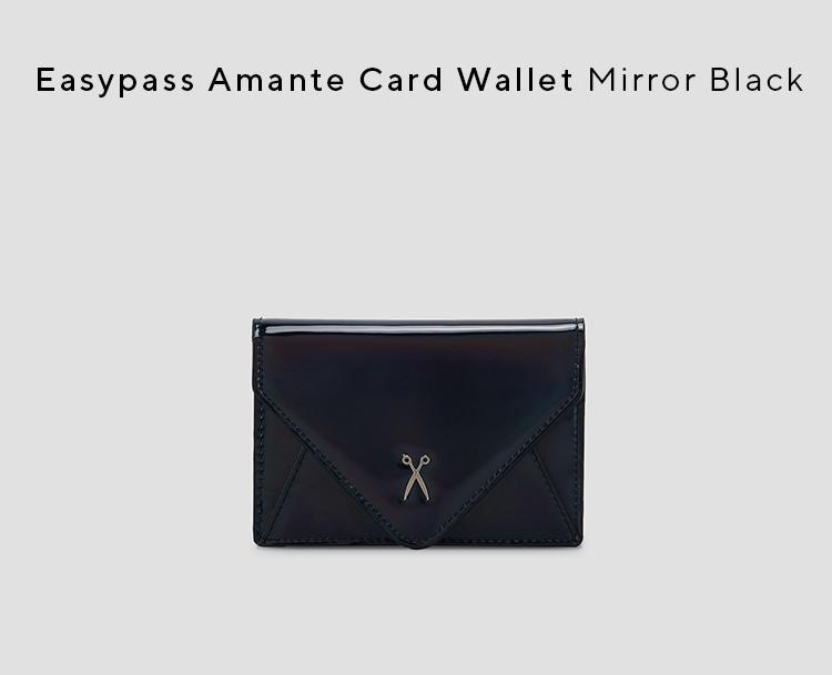 조셉앤스테이시(JOSEPH&STACEY) Easypass Amante Card Wallet Mirror Black