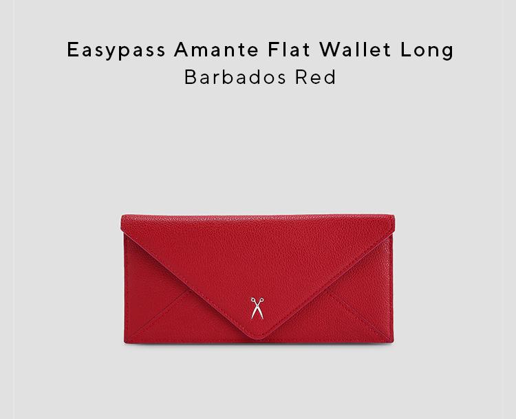 조셉앤스테이시(JOSEPH&STACEY) Easypass Amante Flat Wallet Long Barbados Red