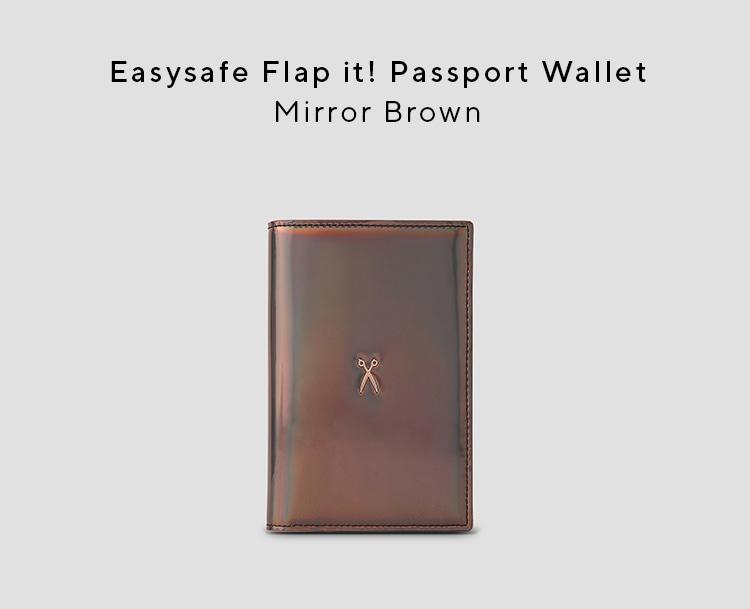 조셉앤스테이시(JOSEPH&STACEY) Easysafe Flap It Passport Wallet Mirror Brown
