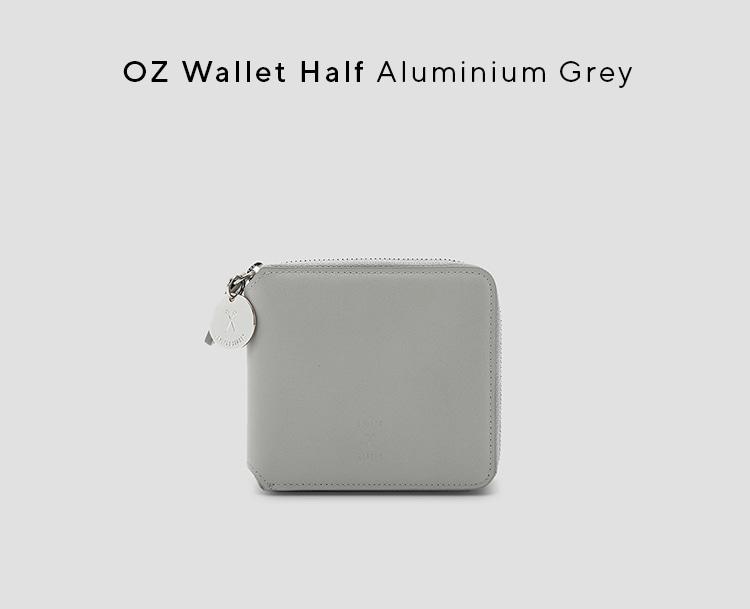 조셉앤스테이시(JOSEPH&STACEY) OZ Wallet Half Aluminium Grey